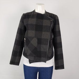 Dex Grey & Black Plaid Jacket Size S